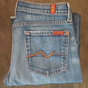 7 for All Mankind bootcut light wash jeans 28